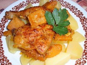 Dýňové kuře (králík) na bylinkách