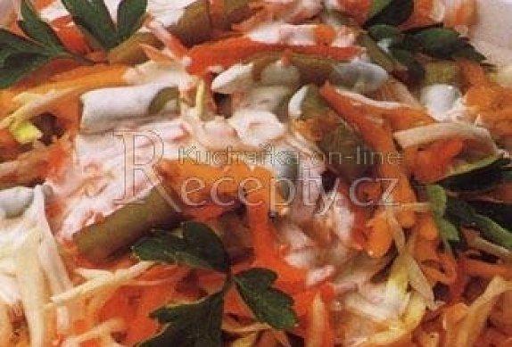 Podzimní salát s fazolkami