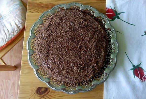 Nízký čokoládový dortík