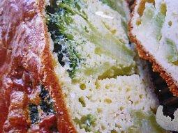 Nadýchaný koláč s brokolicí