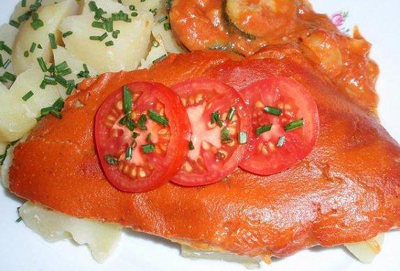 Filety na zelenině - zapečené
