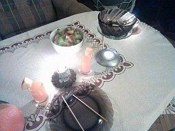 Čokoládové fondue s aromalampou