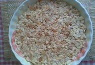 Obložený rohlíkový koláč