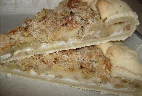 Slaný koláč s kapustou