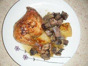 Maminčino kuře s brambory