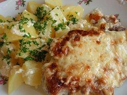Sýrovo-smetanové zapékané řízky