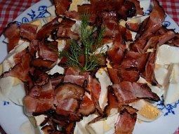 Dijonská vejce se slaninou