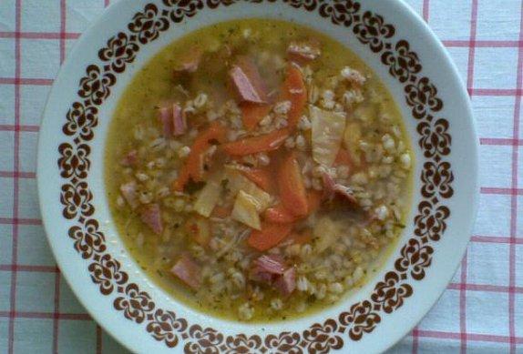 Uzená polévka s kroupami photo-0