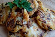 Bramborové placky s houbami