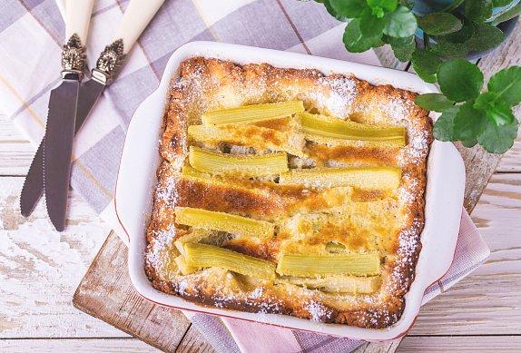 Rebarborový dort - tarte