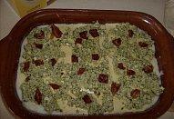Lasagne s pestem, ricottou a sušenými rajčaty
