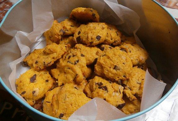 Dýňové sušenky s čokoládou