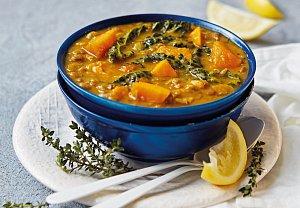 Čočková polévka s batáty