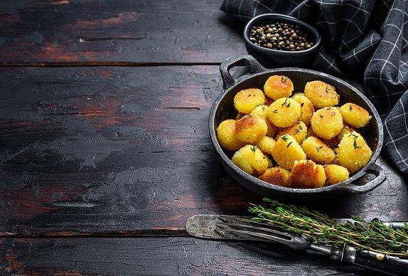 Smažené noky z bramborové kaše