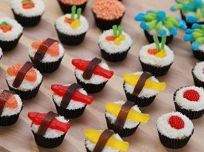Sushi cupcakes (Candy sushi)