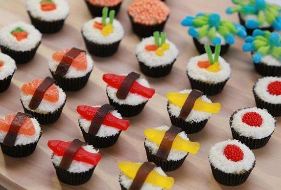 Sushi cupcakes (Candy sushi) photo-0