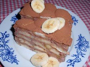 Banánovo-smetanový dort : nepečený