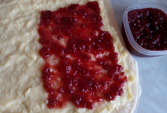 Pudinkové růže s marmeládou