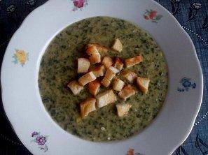 Špenátová polévka s pórkem