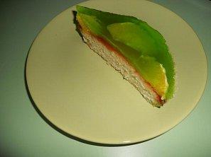 Pomerančový dortík v zeleném oblečku