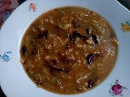 Kapustovo - houbová polévka