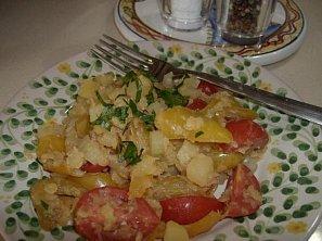 Červená čočka se zeleninou (salát)