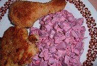 Jednoduchý salát z červené řepy