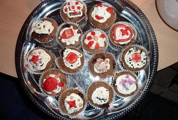Muffiny čokoládovo jahodové s nugetou photo-0