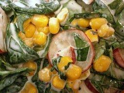 Špenátový salát barevný