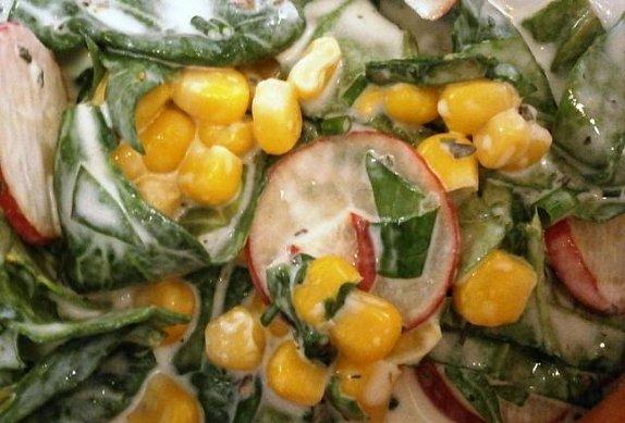 Špenátový salát barevný photo-0